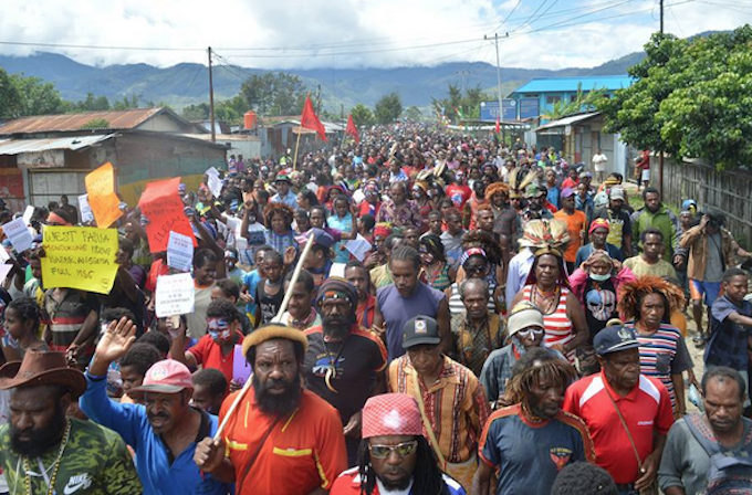 Human rights groups protest over 500 arrests of Papuan demonstrators
