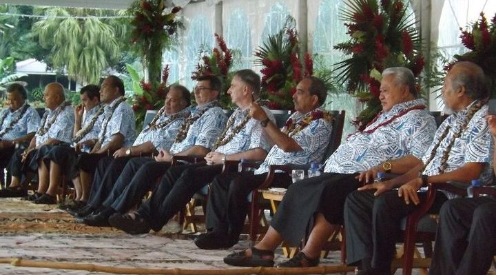 Leaders at the opening of the Pacific Islands Forum in Samoa. Photo: Tipi Autagavaia
