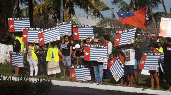 West Papua independence movement protest campaign in Samoa. Photo: RNZI/ Autagavaia Tipi Autagavaia