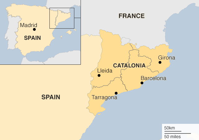Catalan referendum: Clashes as voters defy Madrid