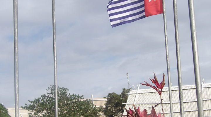 West Papua's Morning Star flag flown in Port Vila, Vanuatu Photo: RNZI Len Garae