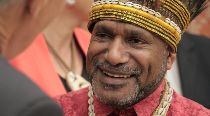 Benny Wenda, Wellington, 10 May 2017. Photo: RNZI / Koroi Hawkins