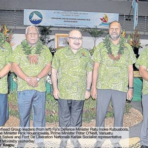 MSG Foreign Ministers conclude talks in Port Moresby