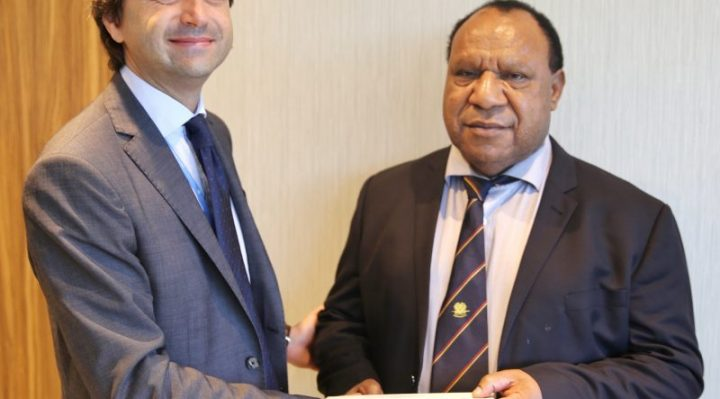 United Nations Resident Coordinator for PNG presented his credentials to Foreign Affairs Minister, Rimbink Pato. Mr Gianluca Rampolla