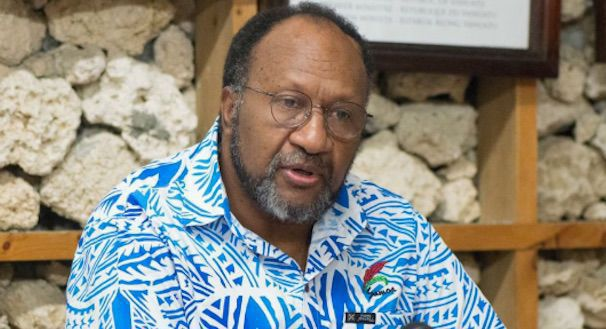 The Prime Minister of the Republic of Vanuatu Charlot Salwai MP