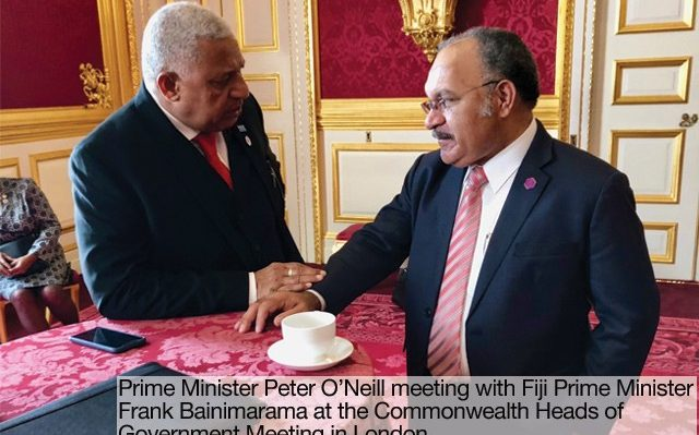 PNG Prime Minister and Fiji Prime Minister