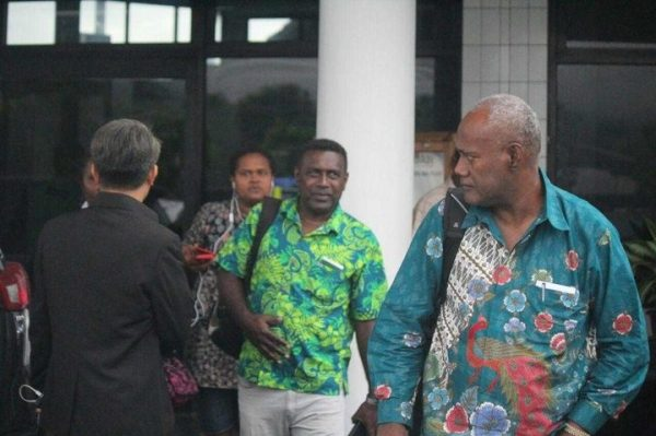 The SI delegation that traveled to West Papua arriving into Sentani Airport in Indonesia's Papua province on 24 April 2018.