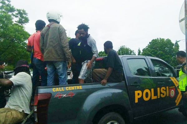 West Papuans arrested by Indonesian police during the Solomon Islands Government's delegation visit.