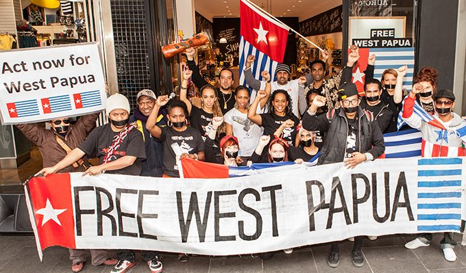 An Australian demonstration for West Papuan self-determination in Melbourne, 2012. Image: Wikipedia