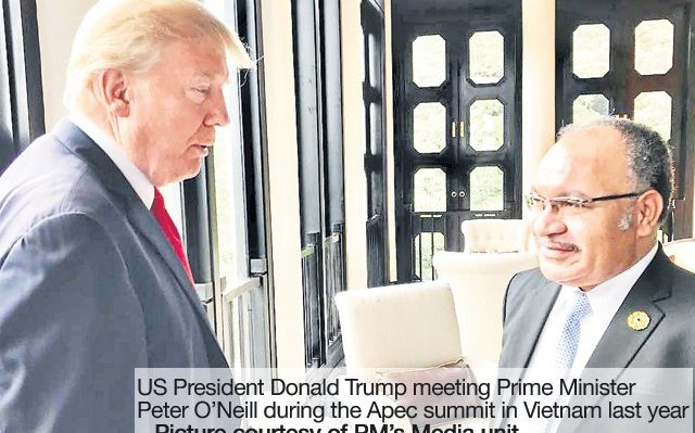 Donald Trump's attendance at the Apec meeting in PNG