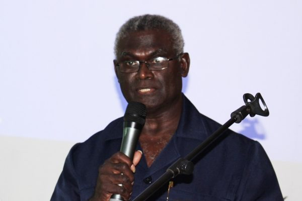 Minister welcomes poverty report MoFT Minister Hon. Manasseh Sogavare delivers his remarks.