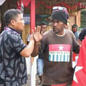 Aktivis West Papua protes stan Indonesia di MAF