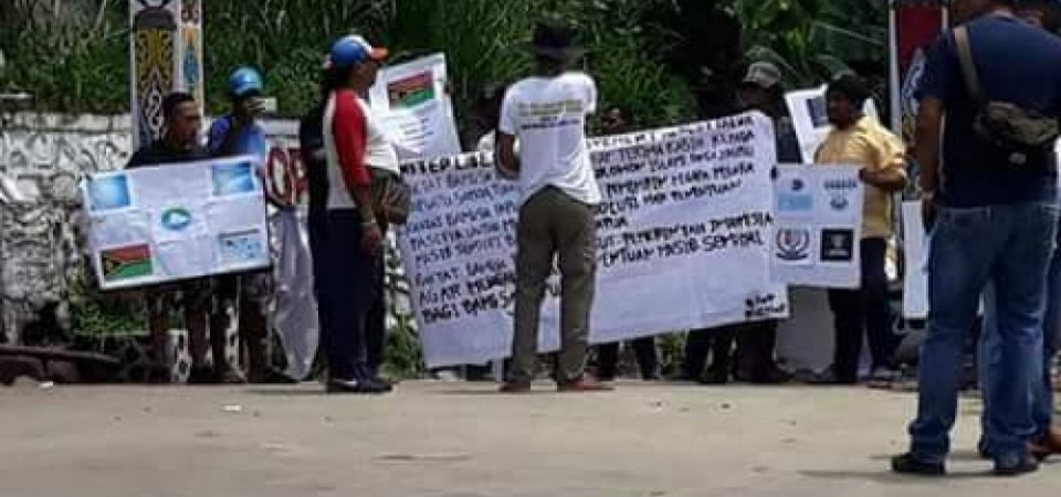 Rolling protests in West Papua