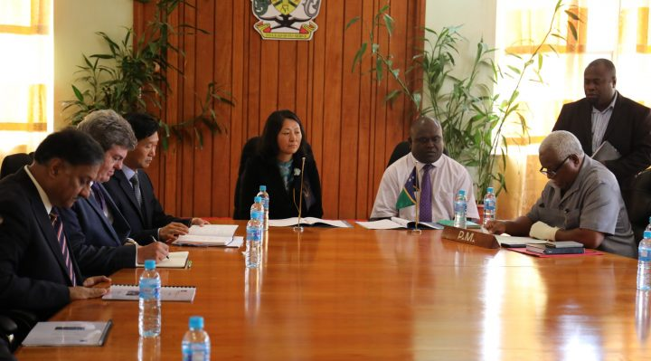 Minister Rick Houenipwela and Asian Development Bank (ADB)