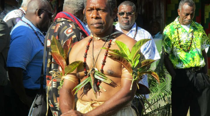 New President of the Malvatumauri Council of Chiefs, Chief Willy Plasua.