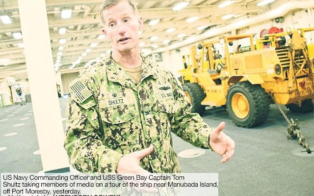 United States marines and naval officers have arrived in Port Moresby