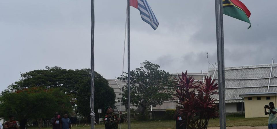 West Papua Flag Raised in Port Vila, Vanuatu