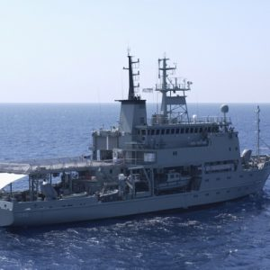 Australian naval ship visits here