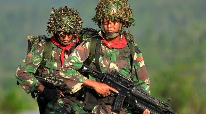 Indonesian soldiers Photo: AFP