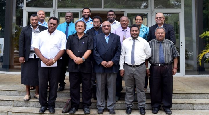 Members of the MSG Secretariat and Honorable Ministers of the Solomon Islands Parliament.