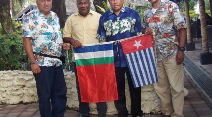 An earlier delegation from Moluccas poses with VFWP delegate (second from left) By Len Garae
