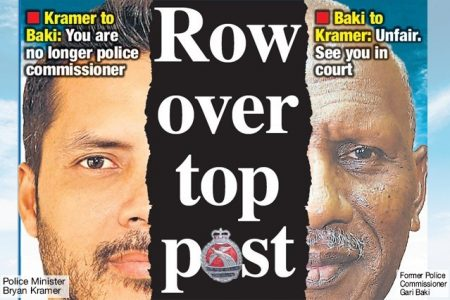Row over top post