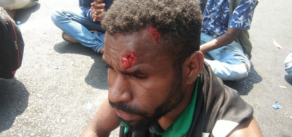 West Papua students 'shot by militias' as video of soldiers firing on crowds emerges
