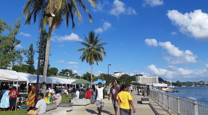 Waterfront at Port Vila, the capital of Vanuatu Photo: RNZ/Sally Round