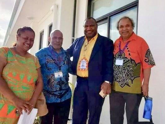 From Your Left: Lora Lini, Benny Wenda, James Marape, Jacob Rumbiak at PIF Summit Tuvalu, 2019