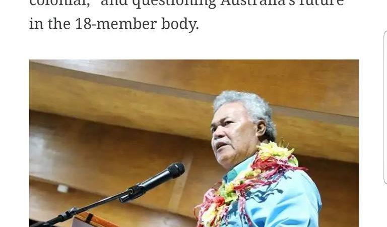 Tuvalu's Prime Minister on Australia's Statements at PIF Retreat
