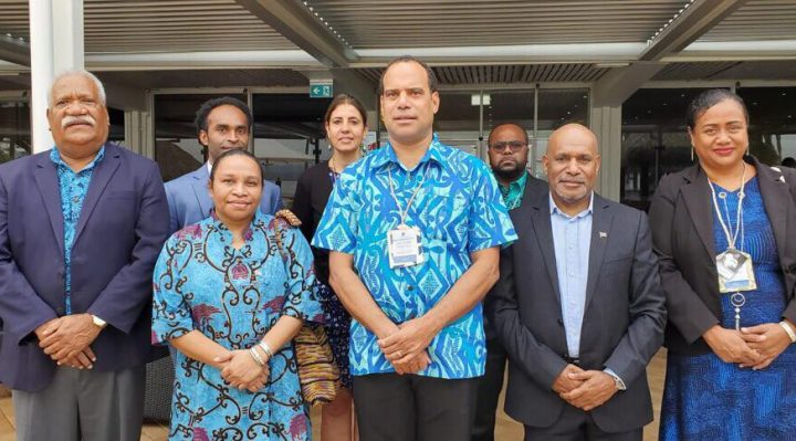 The ULMWP Delegation with Vanuatu Foreign Minister at PIF Summit Tuvalu 2019