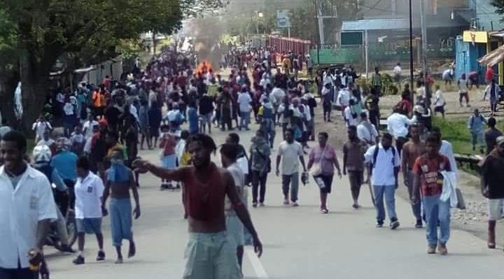 High School Stucents Demonstration Wamena 23 September 2019