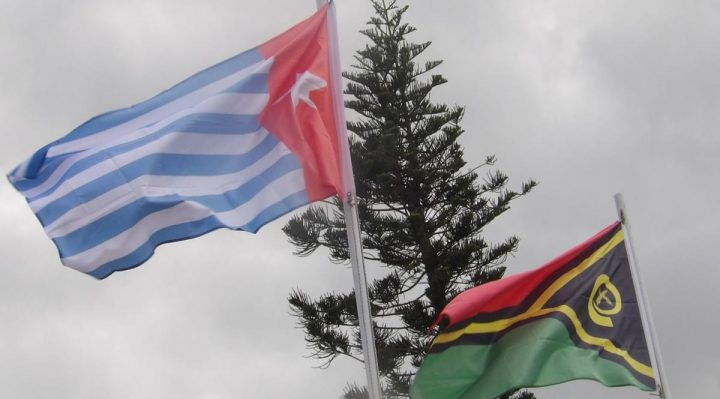 December 1, the Morning Star West Papua flag was hoisted next to the Vanuatu flag