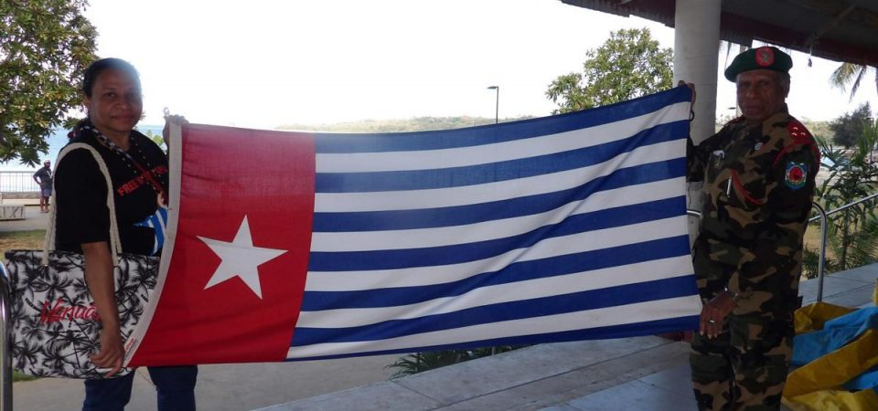 Warome raises West Papua Flag