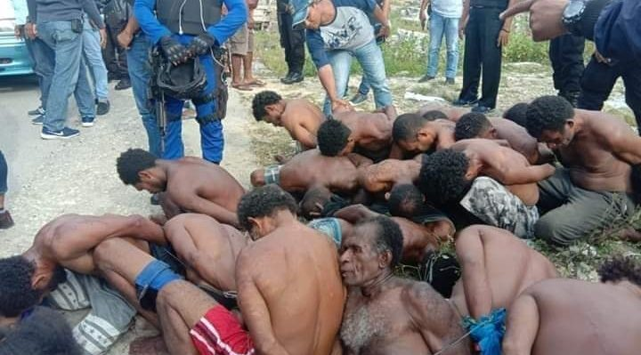 We are a black nation in Melanesia West Papua and we are being colonized by Indonesia, now 58 years of colonial Indonesia have usurped our independence from 01 December 1961 and until 1 December 2019. This is evidence of torture that is always used by Indonesia. This photo was taken on December 1, 2019 in Fak-Fak West Papua when demanding independence