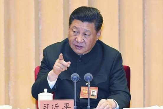 XI Jimping–the president of China responding to an interviewer on Afrika and PNG.