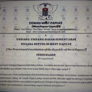 Leaked Information says Hon. Benny Wenda is the President of the Provisional Government of West Papua