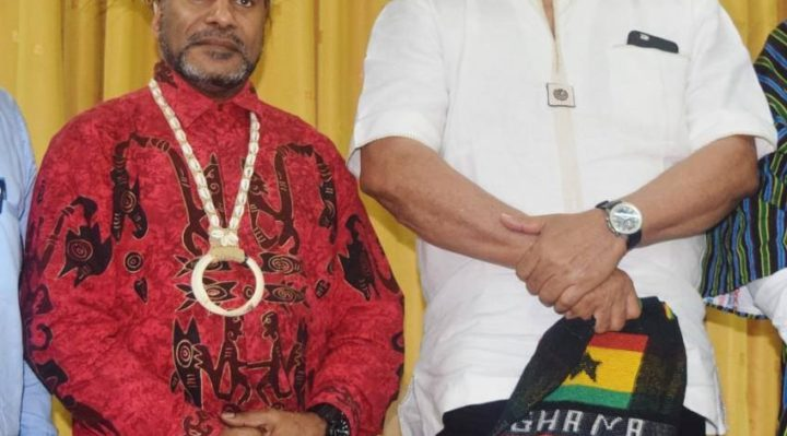 Hon Benny Wenda, President of the Republic of West Papua and Former Ghanian President H.E Jerry Rawlings